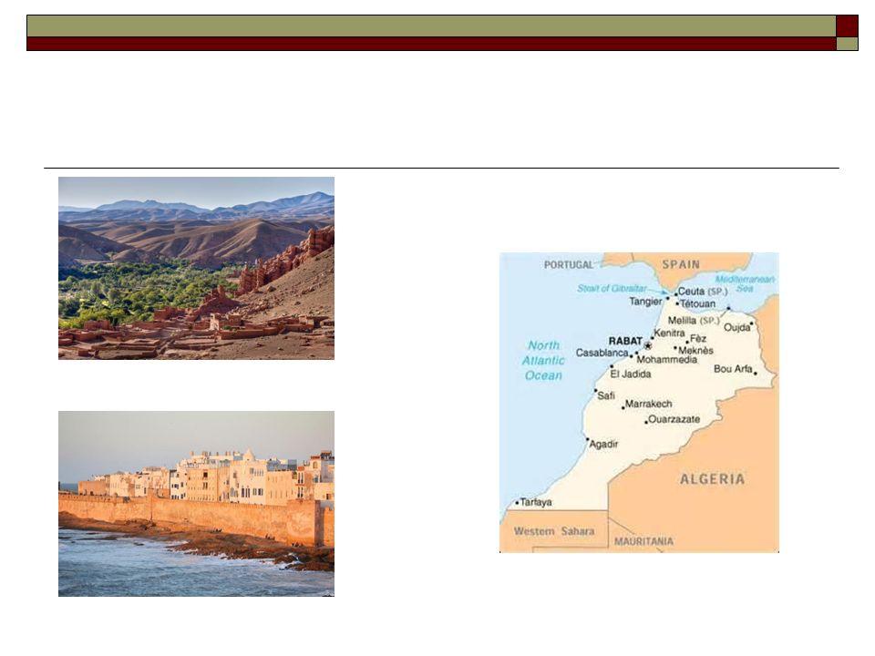 SITUAZIONE GEO-POLITICA Il Marocco è oggi una monarchia costituzionale.