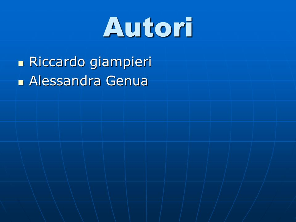Autori Riccardo giampieri Riccardo giampieri Alessandra Genua Alessandra Genua