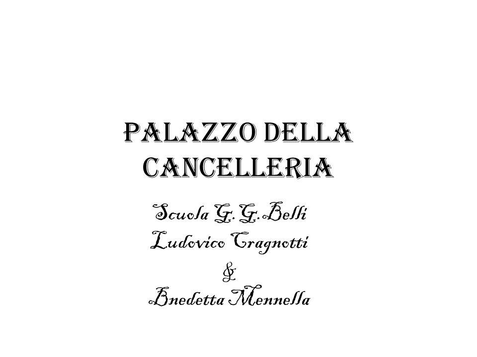 introduzione Il Palazzo della Cancelleria a Roma è situato in piazza della Cancelleria, tra Corso Vittorio Emanuele II e Campo de Fiori.