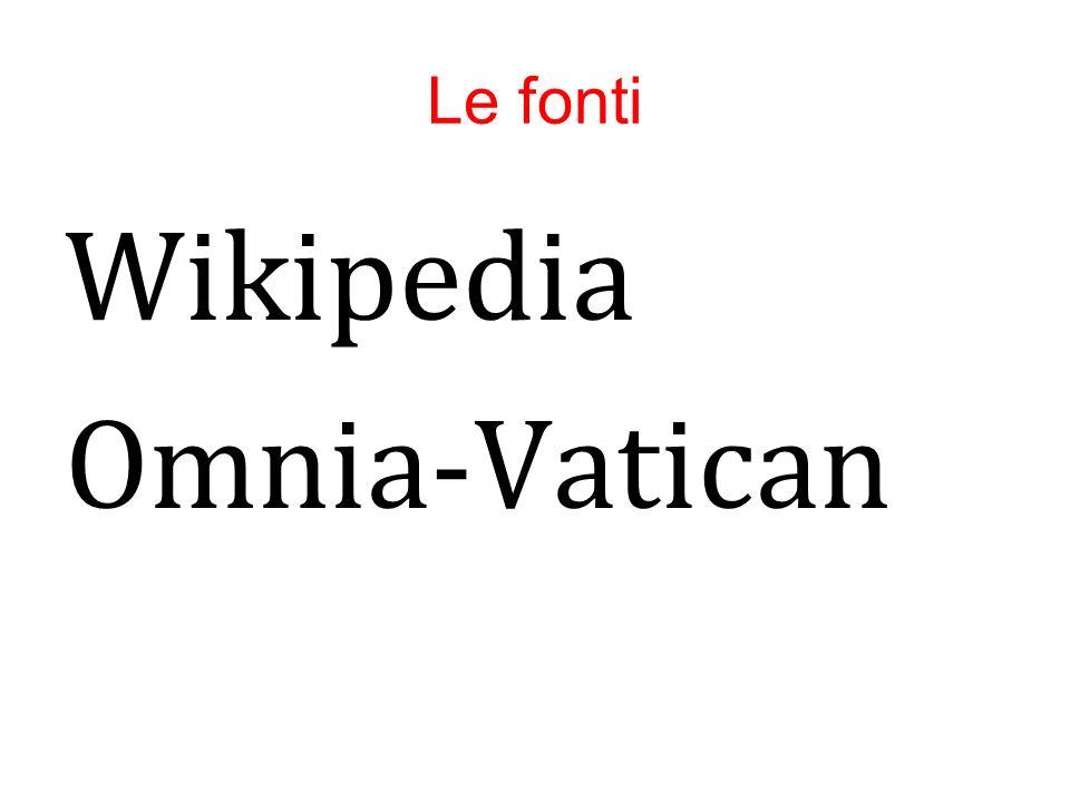 Le fonti Wikipedia Omnia-Vatican