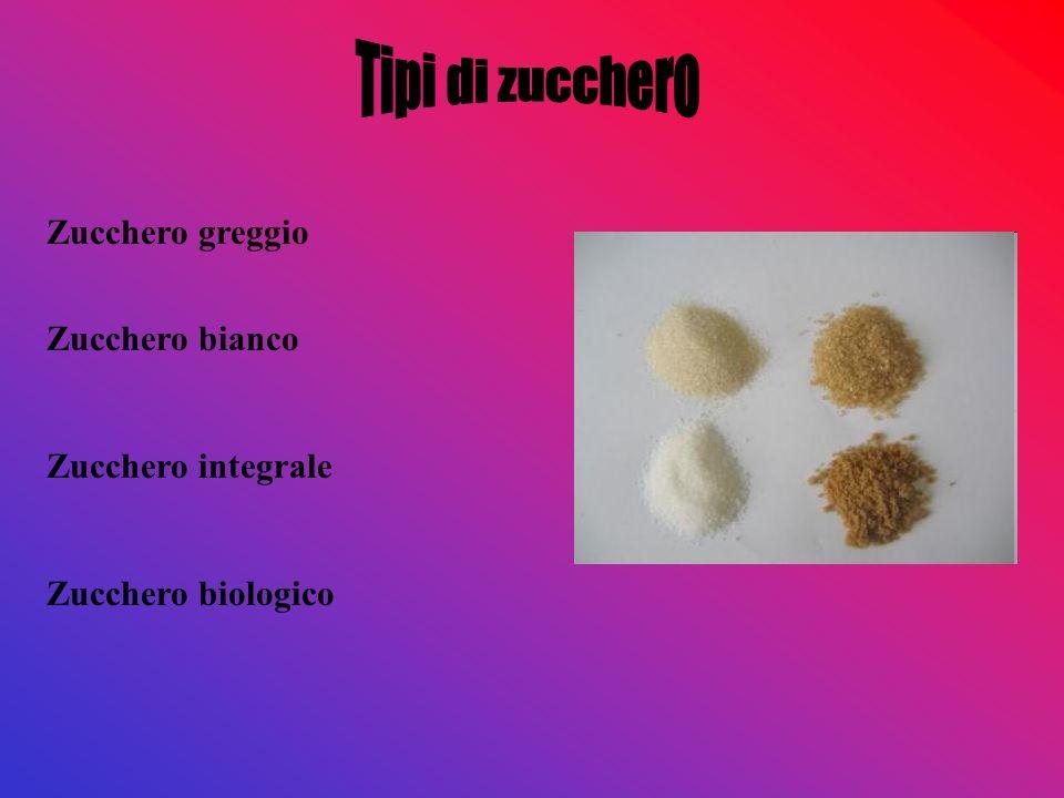 Zucchero greggio Zucchero bianco Zucchero integrale Zucchero biologico