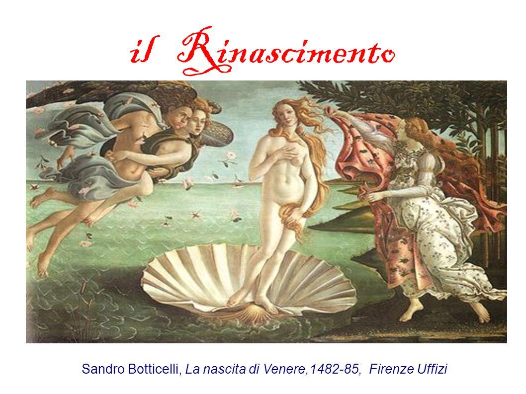 il Rinascimento Sandro Botticelli, La nascita di Venere,1482-85, Firenze Uffizi
