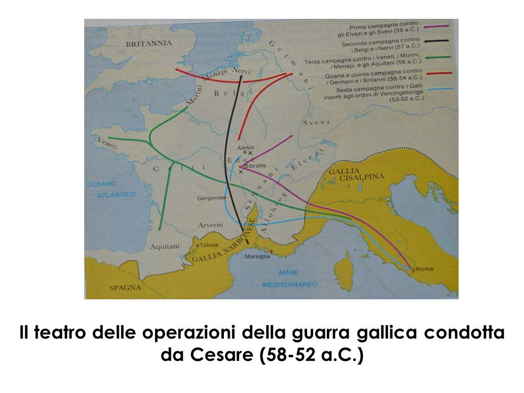 Il teatro delle operazioni della guarra gallica condotta da Cesare (58-52 a.C.)
