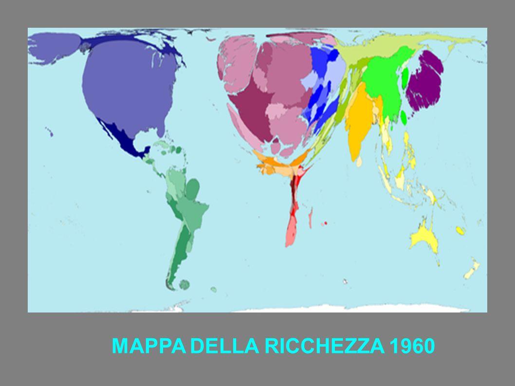 MAPPA DELLA RICCHEZZA 1960