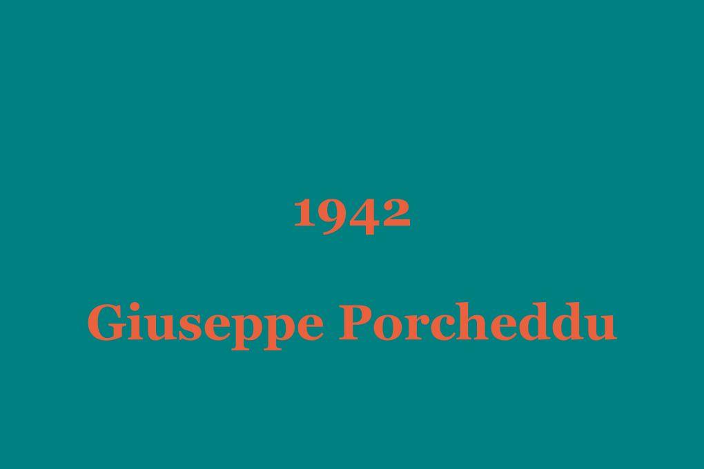 1942 Giuseppe Porcheddu