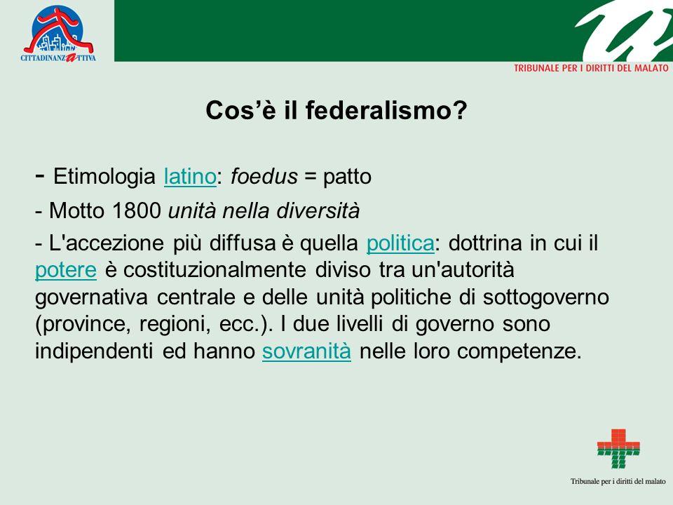 Cosè il federalismo.
