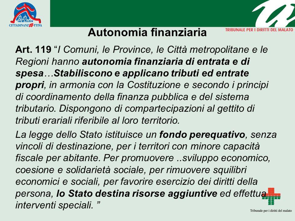 Autonomia finanziaria Art.