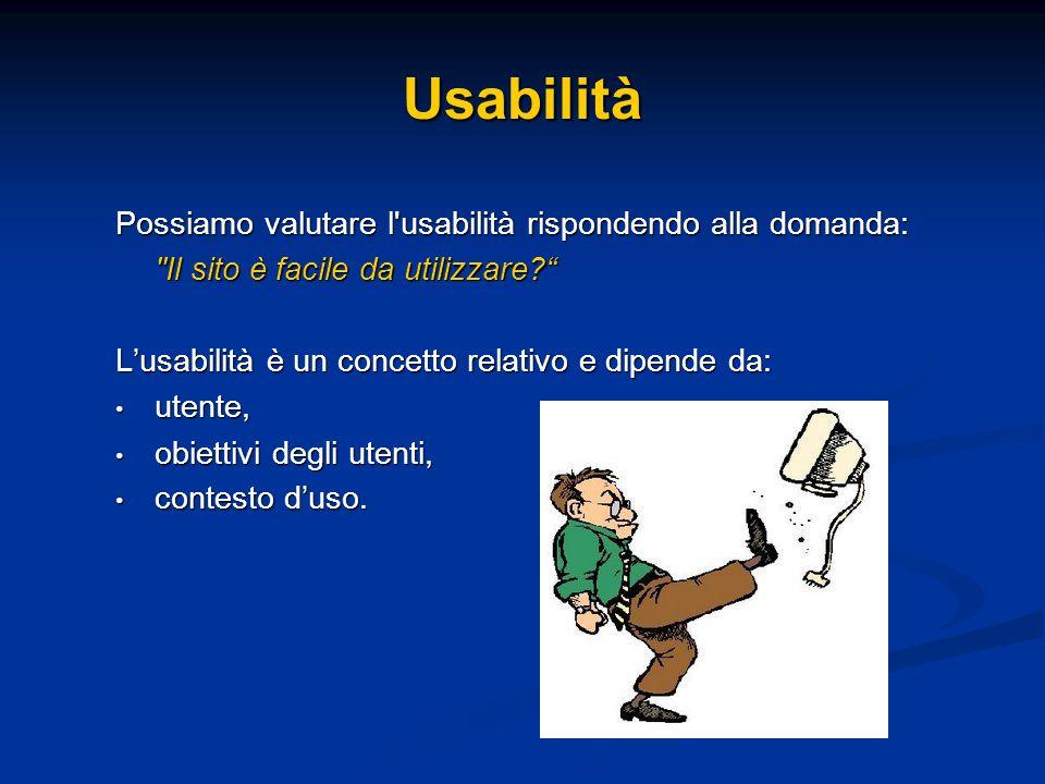 Possiamo valutare l'usabilità rispondendo alla domanda:
