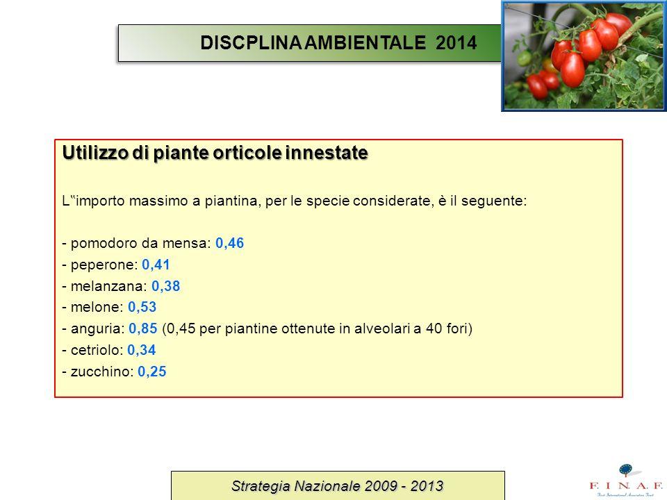 Utilizzo di piante orticole innestate L importo massimo a piantina, per le specie considerate, è il seguente: - pomodoro da mensa: 0,46 - peperone: 0,