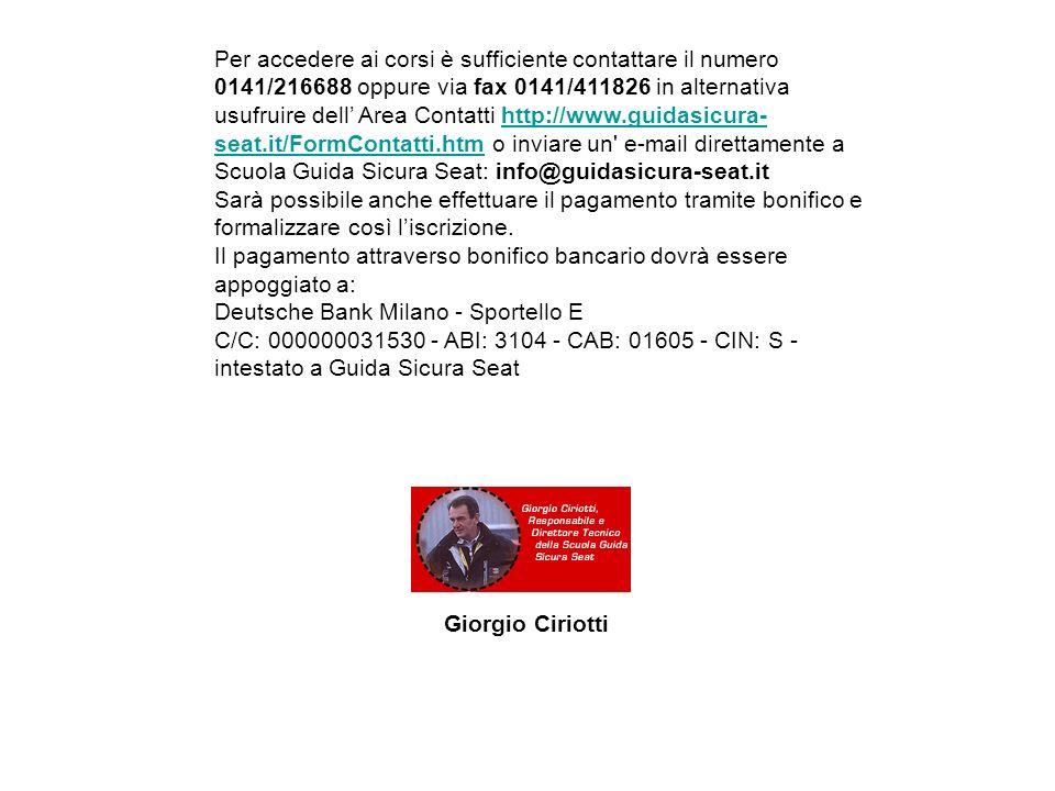 Per accedere ai corsi è sufficiente contattare il numero 0141/216688 oppure via fax 0141/411826 in alternativa usufruire dell Area Contatti http://www
