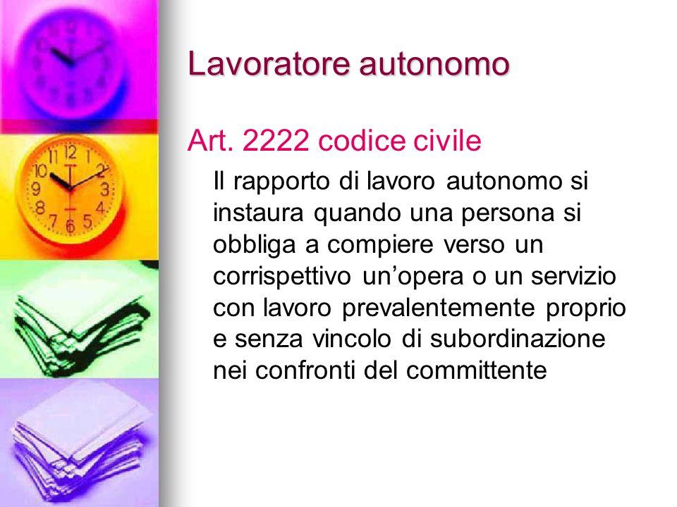 Lavoratore subordinato Art. 2094 codice civile E prestatore di lavoro subordinato chi si obbliga mediante retribuzione a collaborare nellimpresa, pres