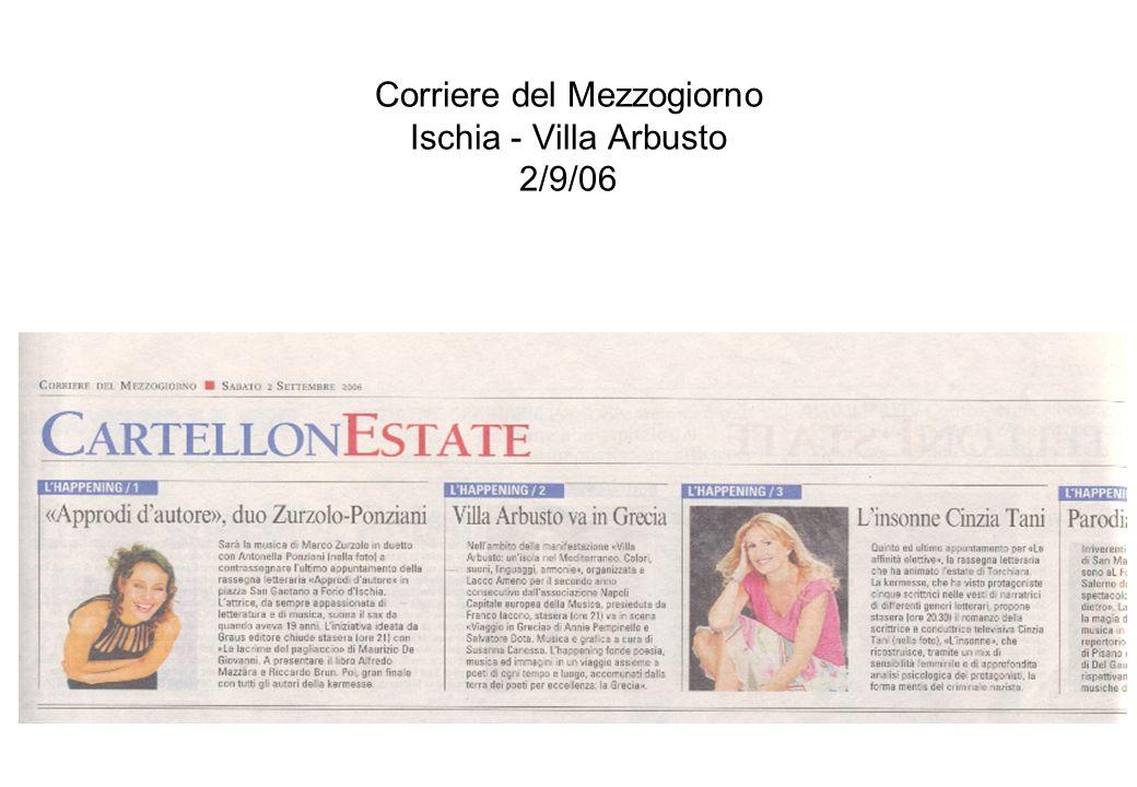 Corriere del Mezzogiorno Ischia - Villa Arbusto 2/9/06
