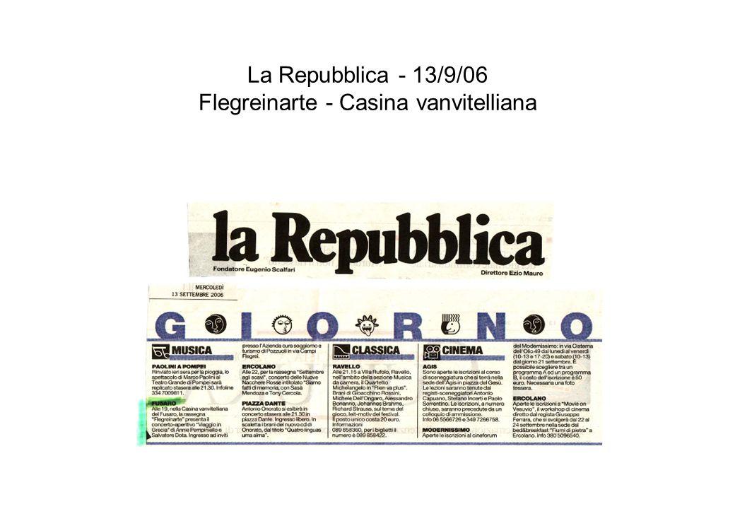 Il Mattino - 14/11/06 - I concerti dautunno - Chiesa Luterana