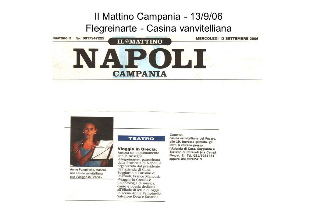 Il Mattino Campania - 13/9/06 Flegreinarte - Casina vanvitelliana