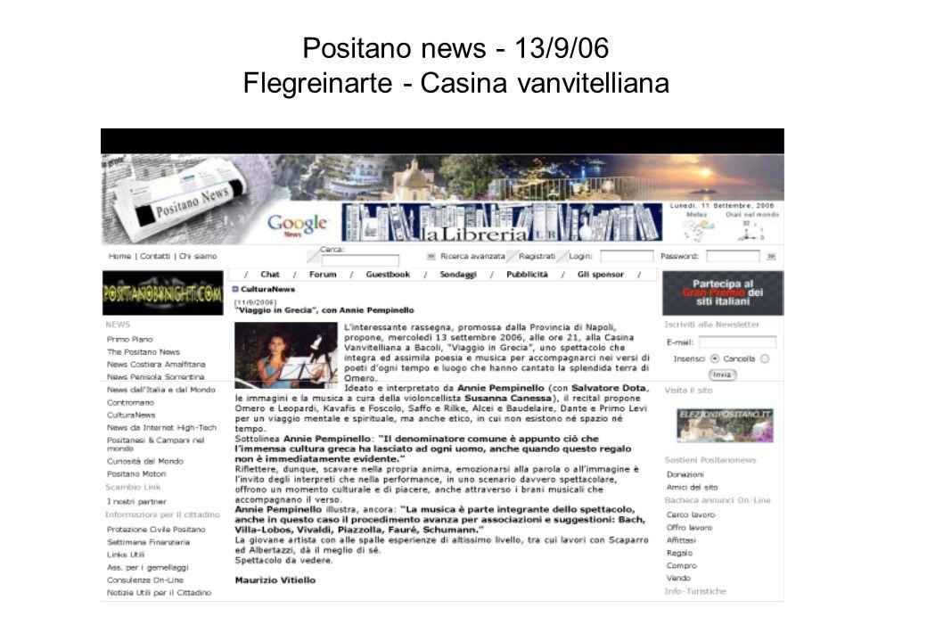 Positano news - 13/9/06 Flegreinarte - Casina vanvitelliana