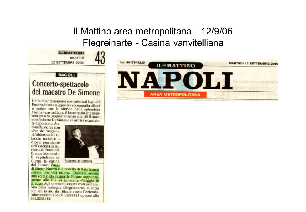 Napoli news - 18/9/06 Flegreinarte - Casina vanvitelliana