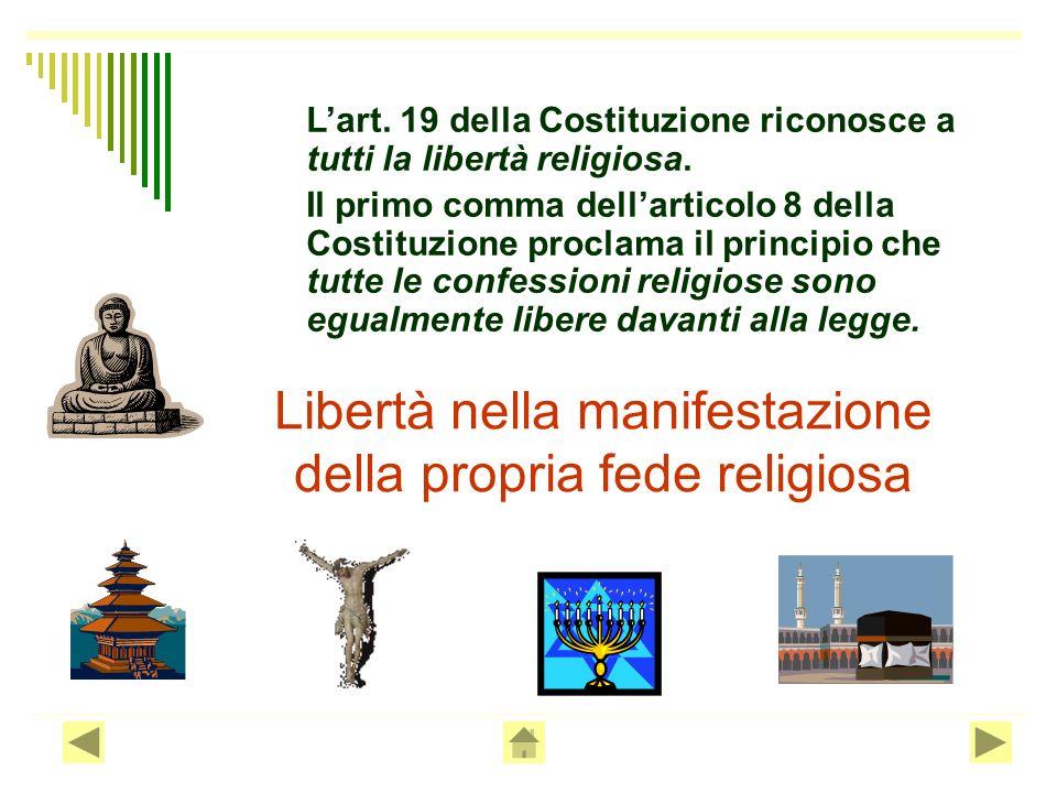 La libertà di associazione consiste nel diritto di costituire associazioni e di aderirvi liberamente senza necessità di autorizzazione pubblica, per r