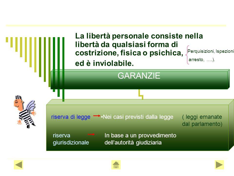 La libertà personale consiste nella libertà da qualsiasi forma di costrizione, fisica o psichica, ed è inviolabile.
