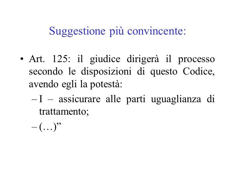 Suggestione più convincente: Art. 125: il giudice dirigerà il processo secondo le disposizioni di questo Codice, avendo egli la potestà: –I – assicura