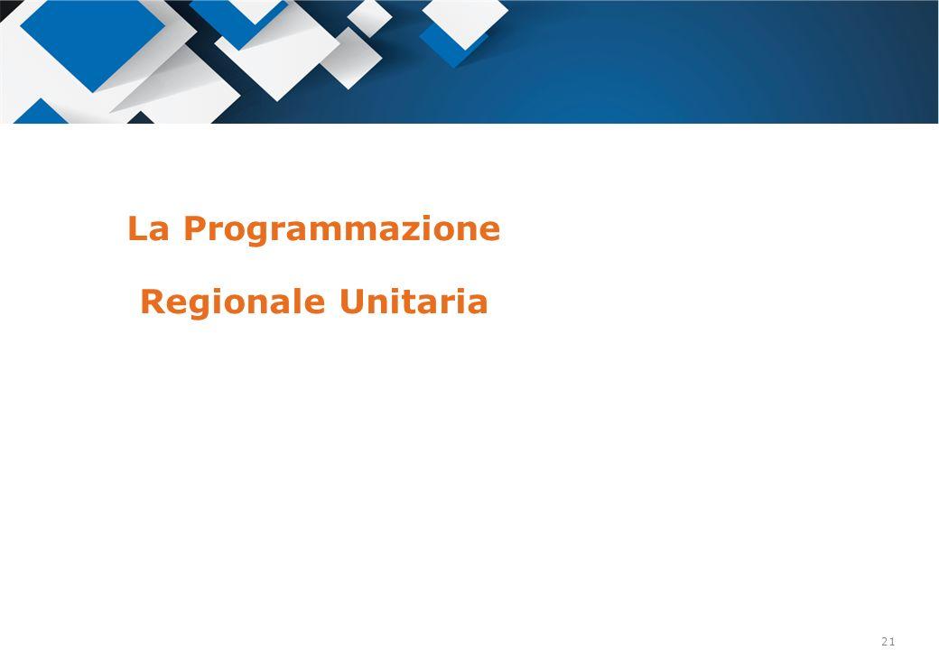 21 La Programmazione Regionale Unitaria