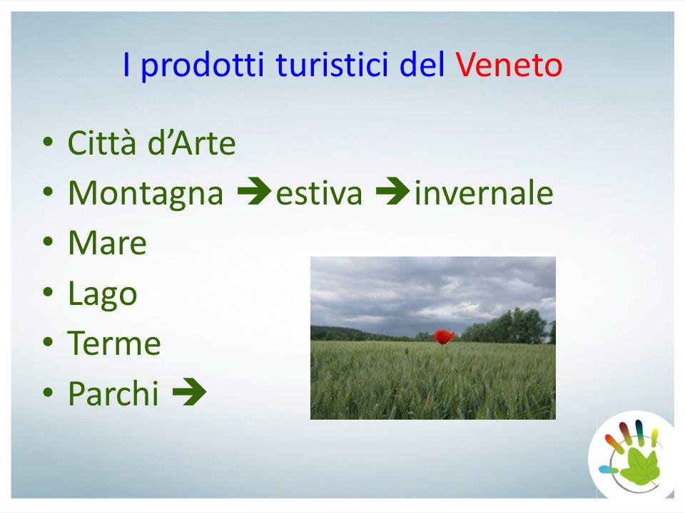 I prodotti turistici del Veneto Città dArte Montagna estiva invernale Mare Lago Terme Parchi