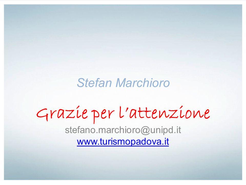 Stefan Marchioro Grazie per lattenzione stefano.marchioro@unipd.it www.turismopadova.it
