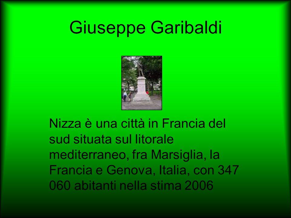 Giuseppe Garibaldi Nizza è una città in Francia del sud situata sul litorale mediterraneo, fra Marsiglia, la Francia e Genova, Italia, con 347 060 abi