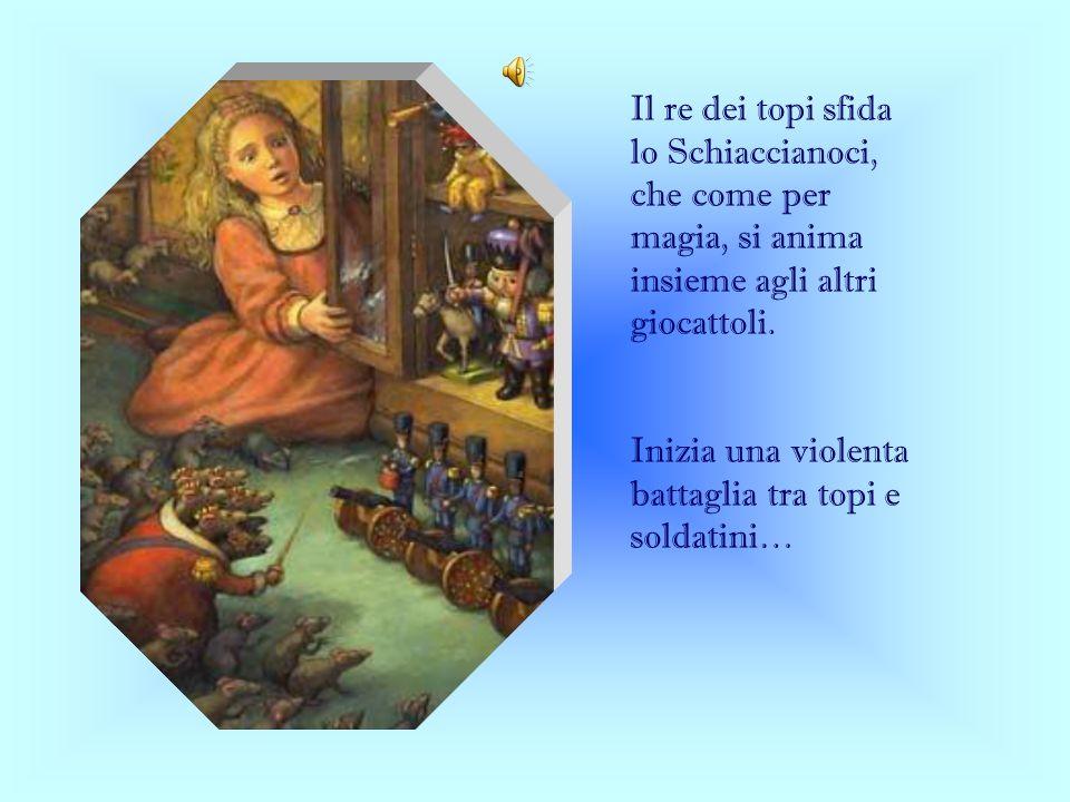 Il re dei topi sfida lo Schiaccianoci, che come per magia, si anima insieme agli altri giocattoli. Inizia una violenta battaglia tra topi e soldatini…