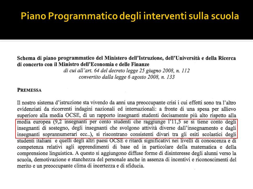 Sitografia: Dati OCSE OCSE rapporto Education at a Glance 2008-11-08 http://www.oecd.org/document/9/0,3343,en_2649_39263238_41266761_1_1_1_ 1,00.html Sintesi in Italiano http://www.astrid-online.it/il-sistema/Studi-e-ri/OECD-Indic/OECD- Indic3/OECD_Education-at-a-Glance-2008_SINTESI.pdf Leggi e documenti: www.orizzontescuola.it www.retescuole.net Siti di sindacati (cgil-cisl-uil e Gilda e Snals) http://beataignoranza.wordpress.com www.tuttoscuola.it