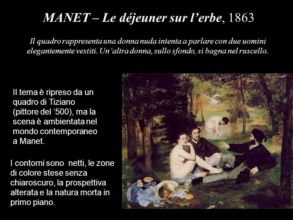 MANET – Il bar delle Folies-Bergère, 1881 La scena è ambientata in un famoso locale di Parigi.