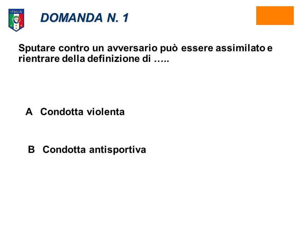 DOMANDA N.8 Ricevere una seconda ammonizione nella stessa gara, cosa comporta per il calciatore.