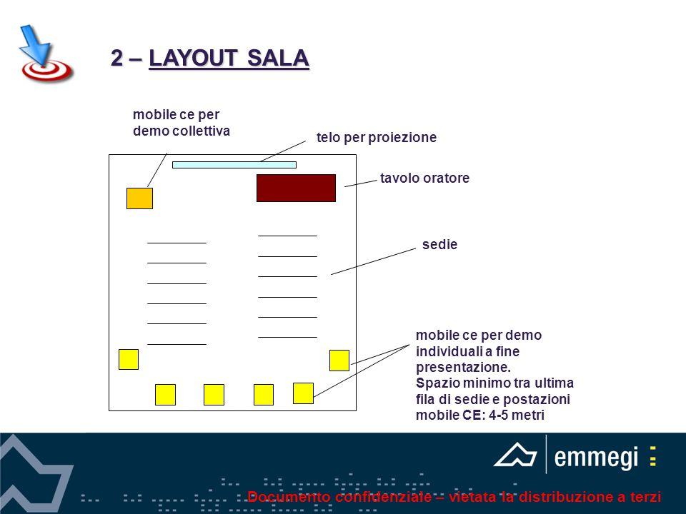 tavolo oratore mobile ce per demo individuali a fine presentazione.
