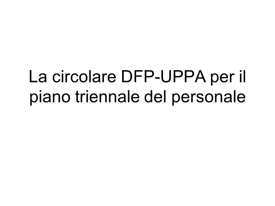 La circolare DFP-UPPA per il piano triennale del personale