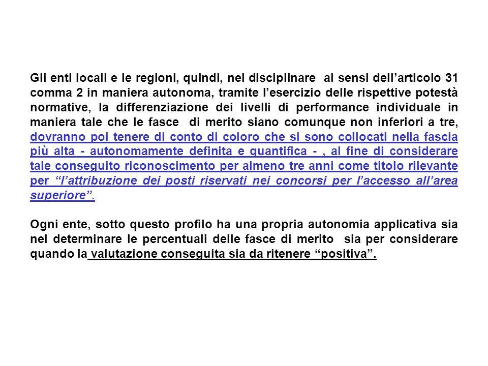 Gli enti locali e le regioni, quindi, nel disciplinare ai sensi dellarticolo 31 comma 2 in maniera autonoma, tramite lesercizio delle rispettive potes