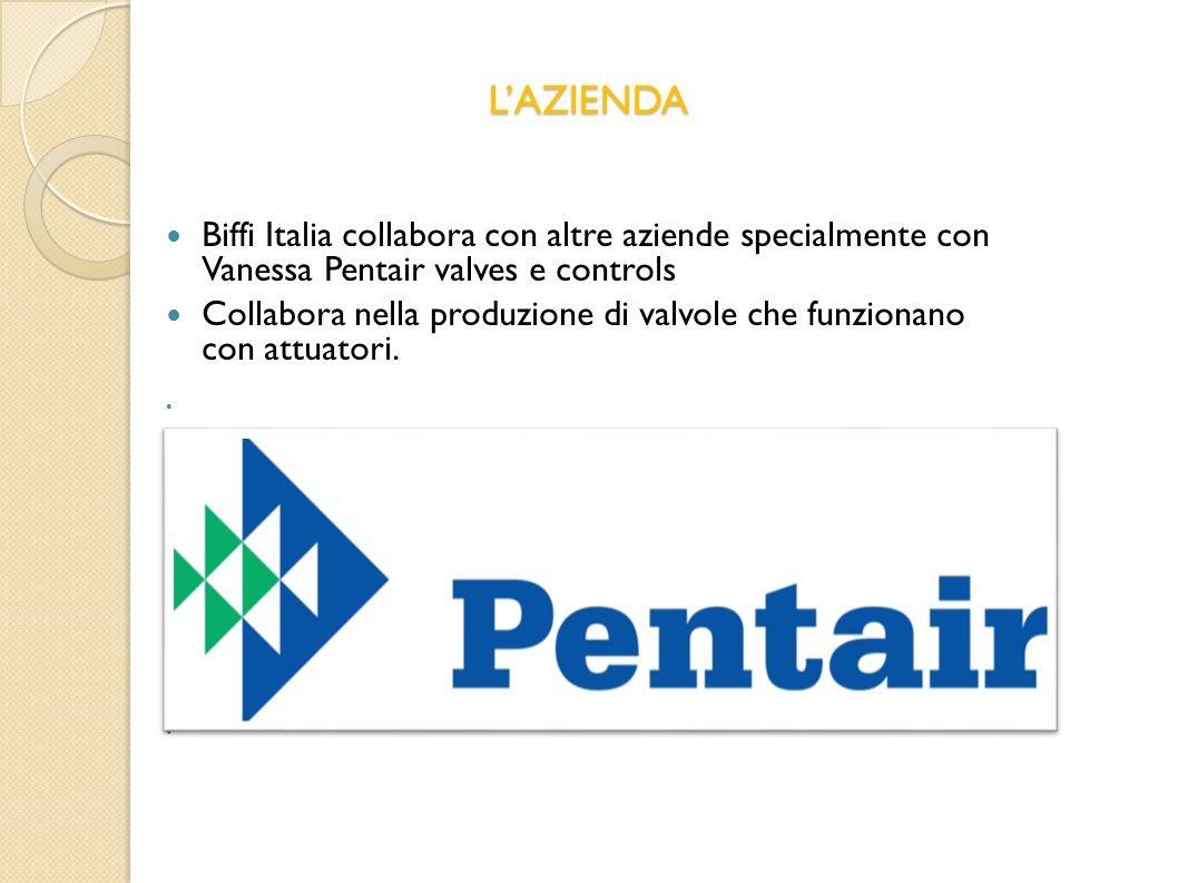 LAZIENDA Biffi Italia collabora con altre aziende specialmente con Vanessa Pentair valves e controls Collabora nella produzione di valvole che funzion