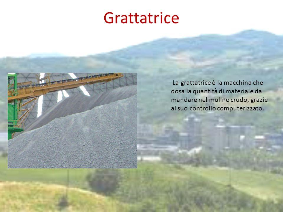Grattatrice La grattatrice è la macchina che dosa la quantità di materiale da mandare nel mulino crudo, grazie al suo controllo computerizzato.