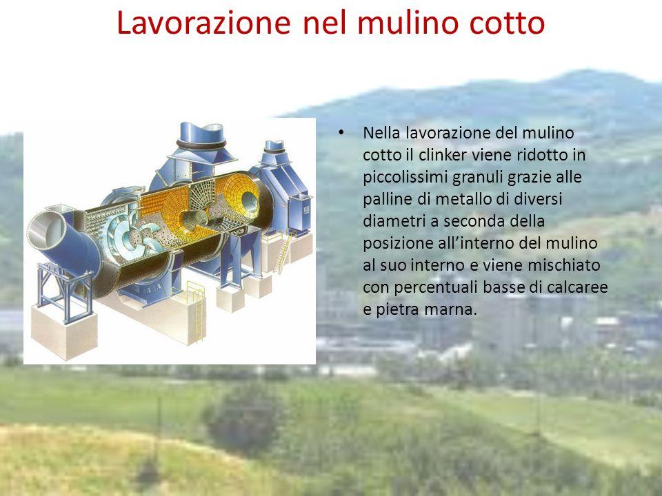 Insacco e vendita Nel silo viene contenuto il cemento pronto per la vendita.