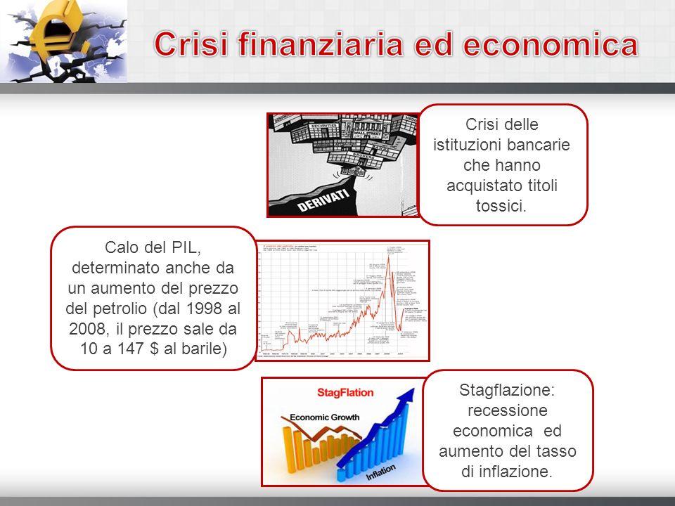 Crisi delle istituzioni bancarie che hanno acquistato titoli tossici. Calo del PIL, determinato anche da un aumento del prezzo del petrolio (dal 1998