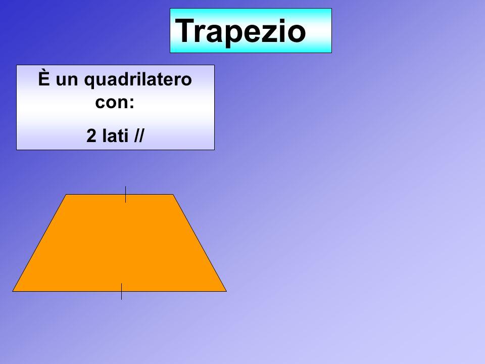 Trapezio È un quadrilatero con: 2 lati //