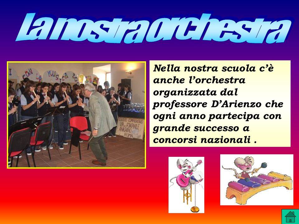 Nella nostra scuola cè anche lorchestra organizzata dal professore DArienzo che ogni anno partecipa con grande successo a concorsi nazionali.