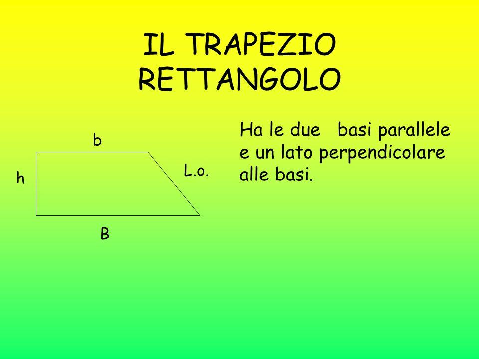 Trapezio isoscele Il trapezio isoscele ha i due lati obliqui uguali. Trapezio rettangolo Il trapezio rettangolo ha due angoli retti. Trapezio scaleno