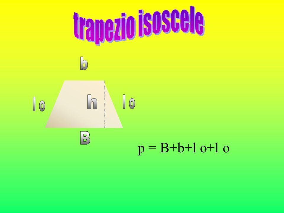 IL TRAPEZIO RETTANGOLO b B h L.o. Ha le due basi parallele e un lato perpendicolare alle basi.