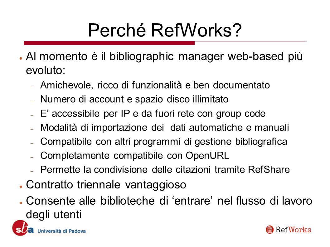 Perché RefWorks.