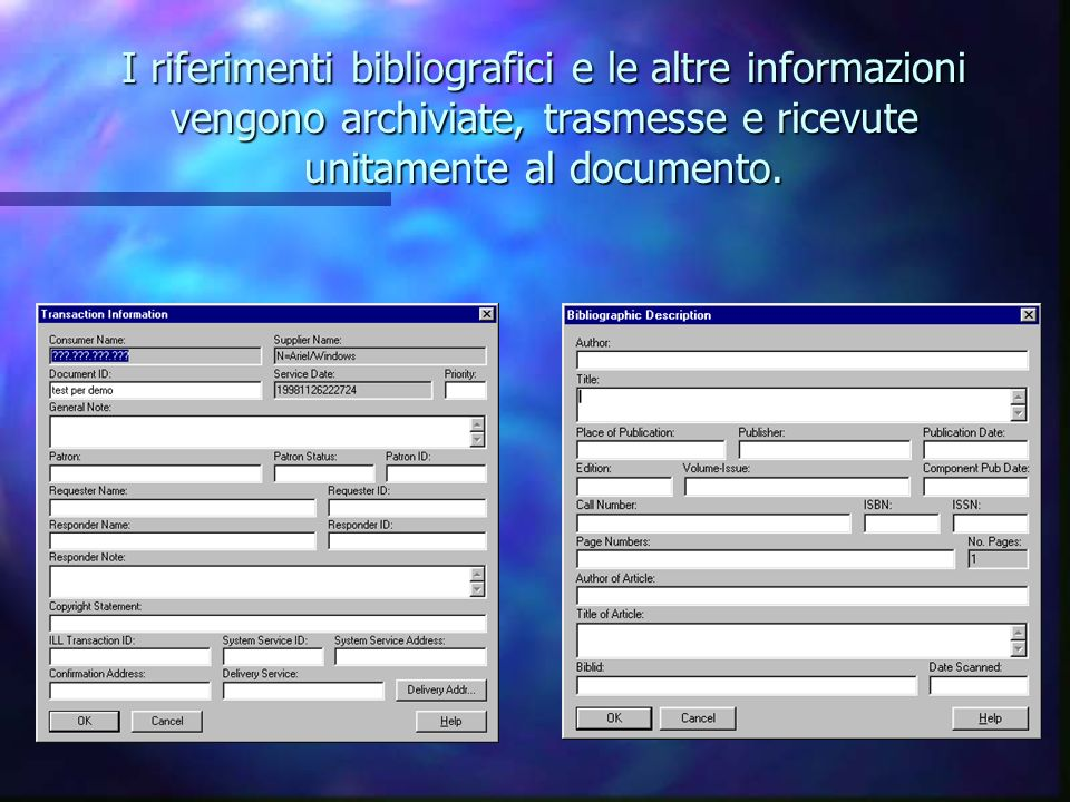 La finestra di archiviazione del documento acquisito con scanner o importato da file