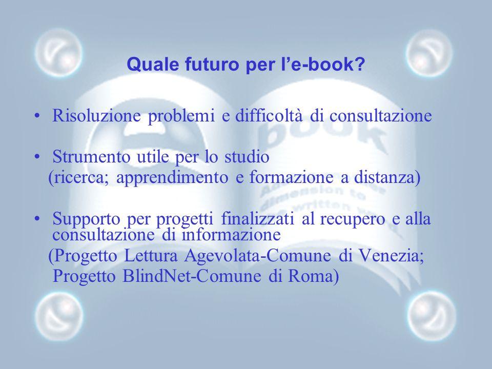 Quale futuro per le-book.