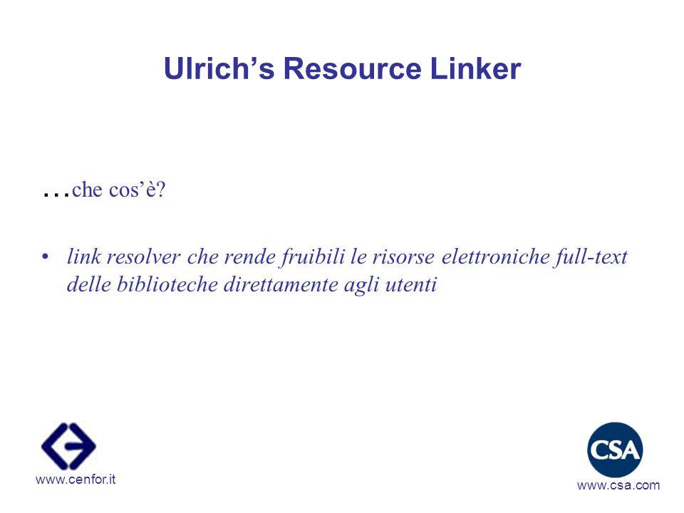 Ulrichs Resource Linker ….quali i vantaggi.
