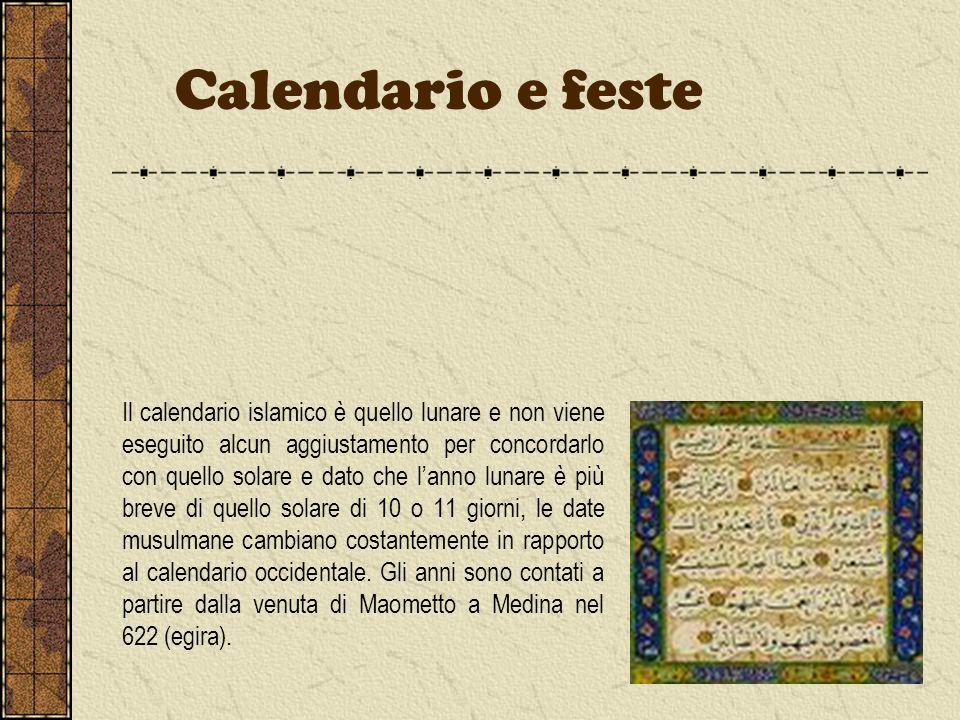 Il calendario islamico è quello lunare e non viene eseguito alcun aggiustamento per concordarlo con quello solare e dato che lanno lunare è più breve