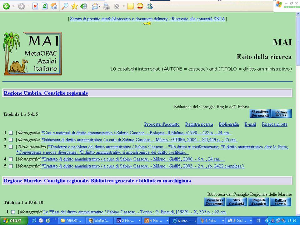 Progetto Sistema Biblioteche Pubblica Amministrazione - SBPA 18 MAI
