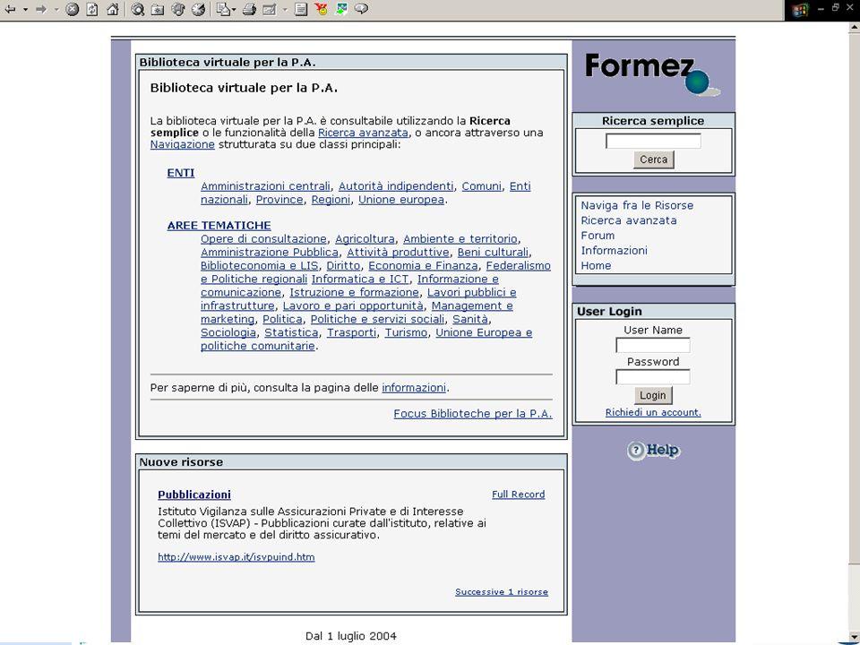 Progetto Sistema Biblioteche Pubblica Amministrazione - SBPA 25 Homepage Home page
