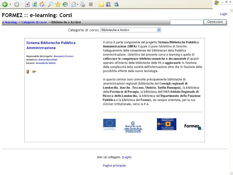 Progetto Sistema Biblioteche Pubblica Amministrazione - SBPA 30